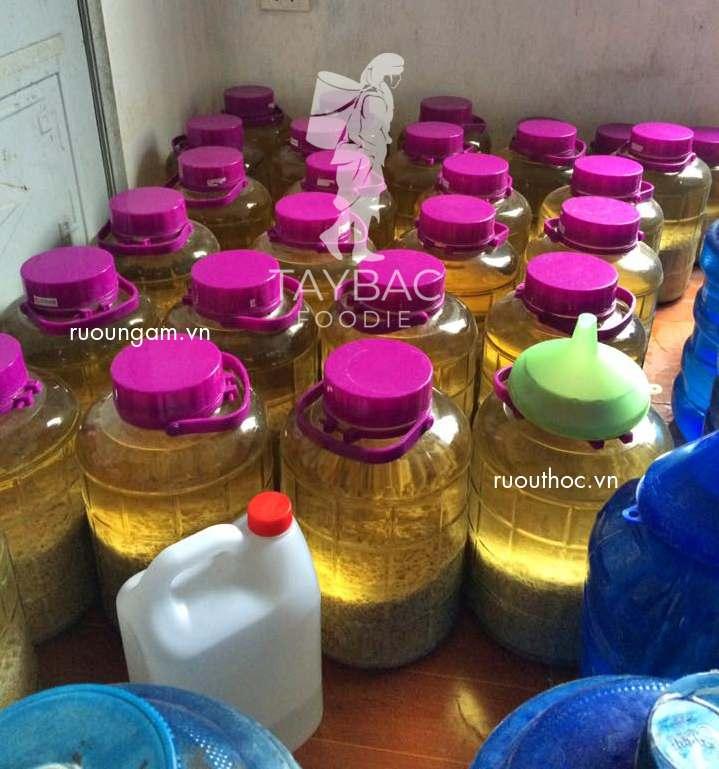 Giá bán rượu nếp cái hoa vàng từ 80.000 đồng - 150.000 đồng/lít.
